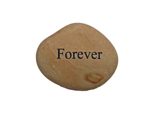 Forever Small Carved Beach Stone