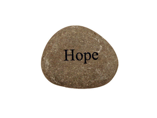 Hope Small Carved Beach Stone
