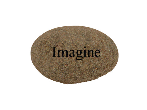 Imagine Small Carved Beach Stone