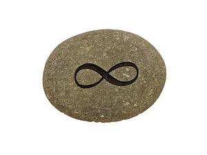 Infinity Symbol Small Carved Beach Stone