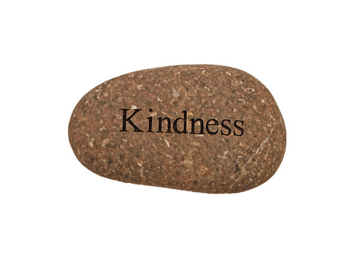Kindness Small Carved Beach Stone