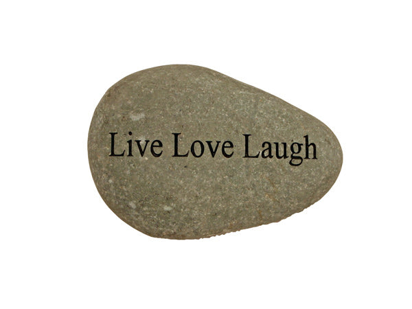Live Love Laugh Small Carved Beach Stone