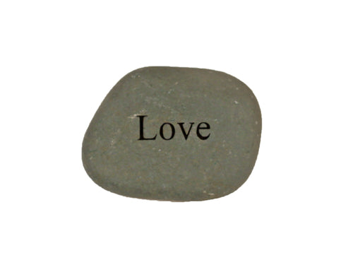 Love Small Carved Beach Stone