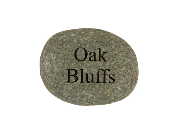 Oak Bluffs Small Carved Beach Stone
