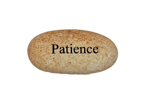 Patience Small Carved Beach Stone