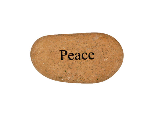 Peace Small Carved Beach Stone