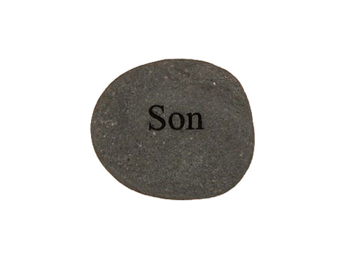 Son Small Carved Beach Stone