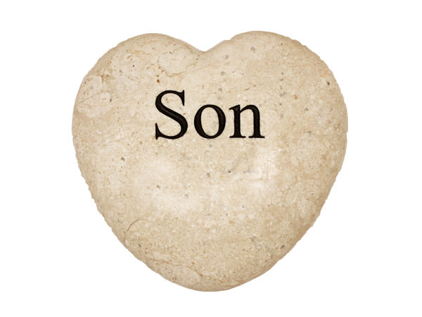 Son Large Engraved Heart