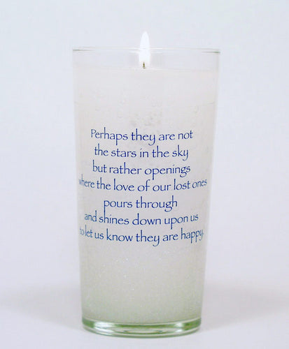 Perhaps they are not Stars Memorial Candle