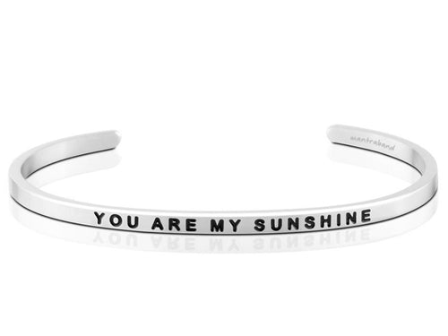 You Are My Sunshine Mantraband Cuff Bracelet