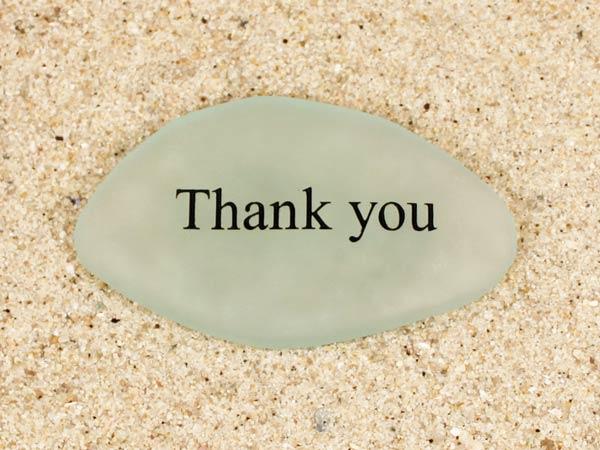 Thank You Sea Glass