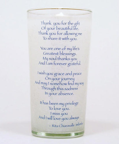 Thank You Memorial Candle