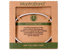 Load image into Gallery viewer, This Too Shall Pass Mantraband Cuff Bracelet