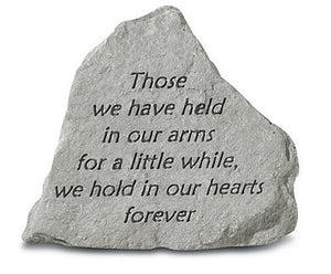 Those We Have Held Small Concrete Stone