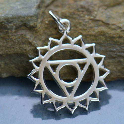 Sterling Silver Throat Chakra Charm