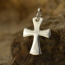 Load image into Gallery viewer, Sterling Silver Tiny Celtic Cross Charm