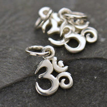 Load image into Gallery viewer, Sterling Silver Tiny Om Symbol Charm