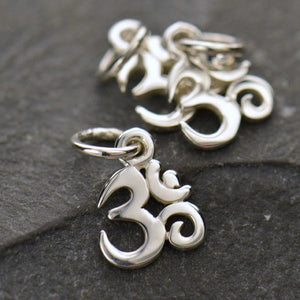 Sterling Silver Tiny Om Symbol Charm