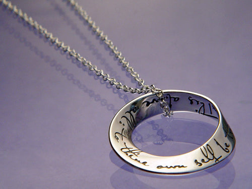 To Thine Own Self Be True Mobius Necklace