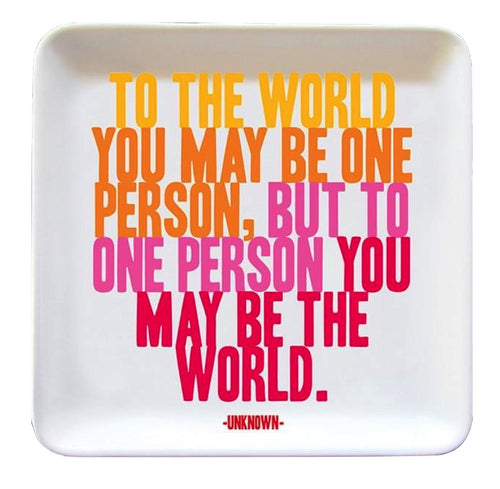 To The World Quotable Dish