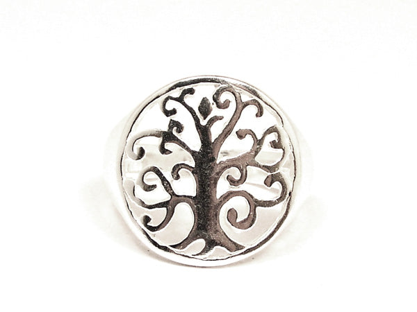 Sterling Silver Tree of Life Ring Style 2