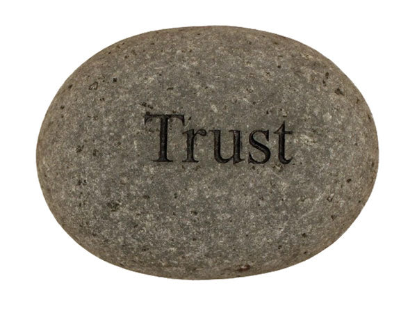 Trust Carved River Stone