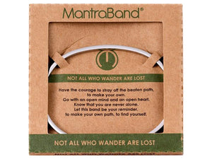 Not All Who Wander Are Lost Mantraband Cuff Bracelet