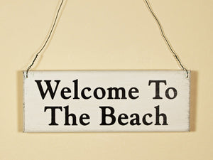 Welcome To The Beach Mini Hanging Sign