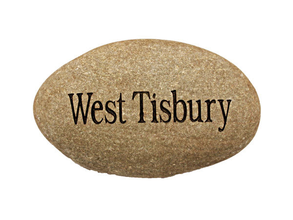West Tisbury Carved River Stone