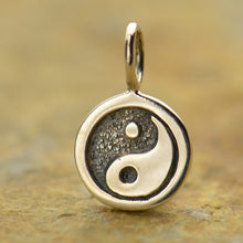 Load image into Gallery viewer, Sterling Silver Yin Yang Disk Charm