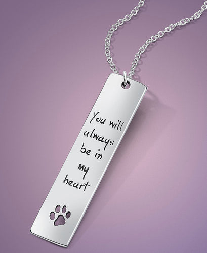 You Will Always Be In My Heart Silver Necklace