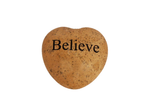 Believe Small Engraved Heart