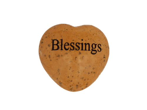 Blessings Small Engraved Heart
