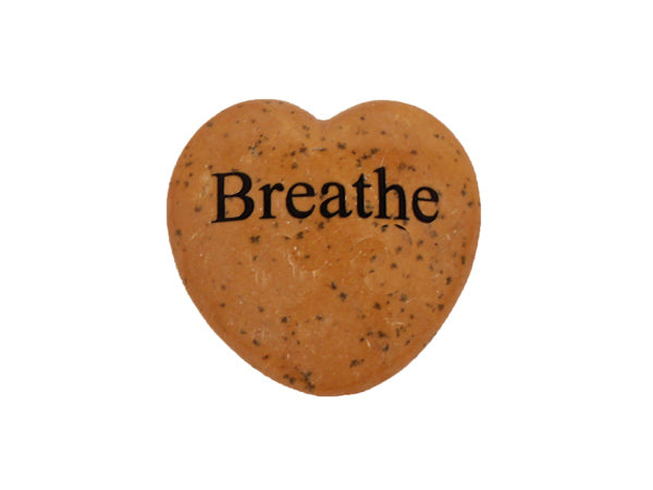 Breathe Small Engraved Heart