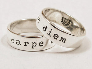 Sterling Silver Carpe Diem Ring
