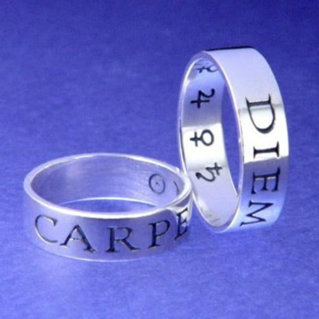 Carpe Diem Poesy Ring