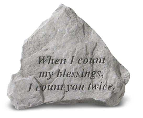 When I Count My Blessings Concrete Stone