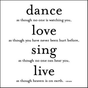 Dance As Though Quotable Card or Magnet