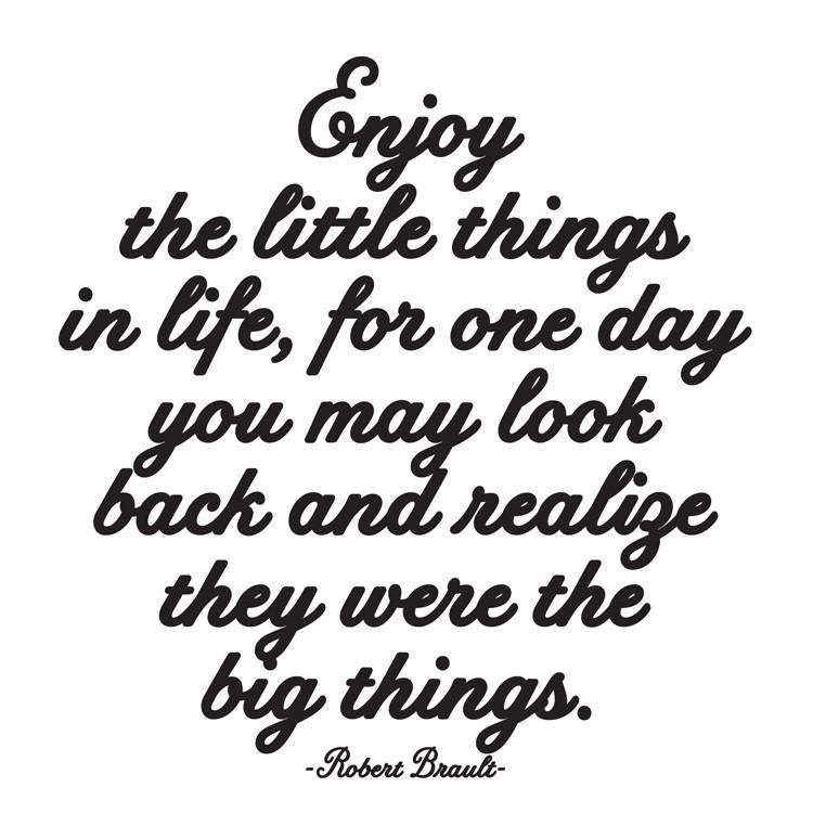 Enjoy The Little Things Quotable Card or Magnet