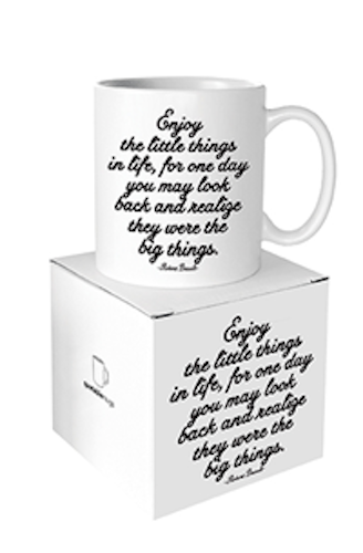 Enjoy The Little Things Quotable Mug