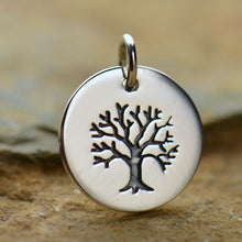 Load image into Gallery viewer, Sterling Silver Tree of Life Disk Charm