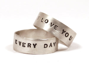 Everyday I Love You Sterling Silver Ring