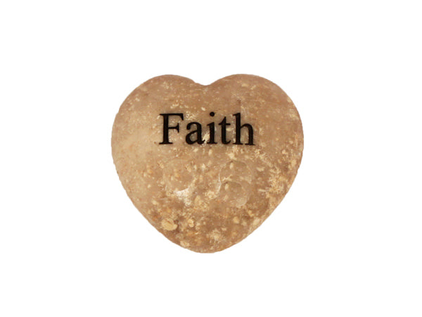 Faith Small Engraved Heart