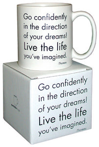 Quotable Go Confidently Mug
