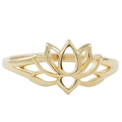 Gold Vermeil Lotus Ring