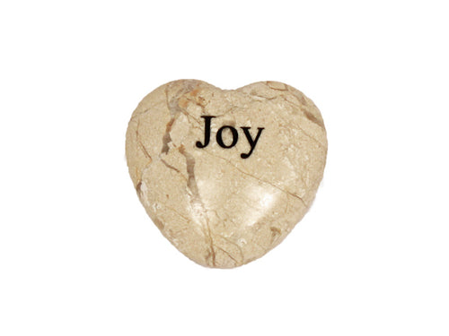 Joy Small Engraved Heart