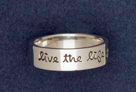 Sterling Silver Live The Life You Love Ring