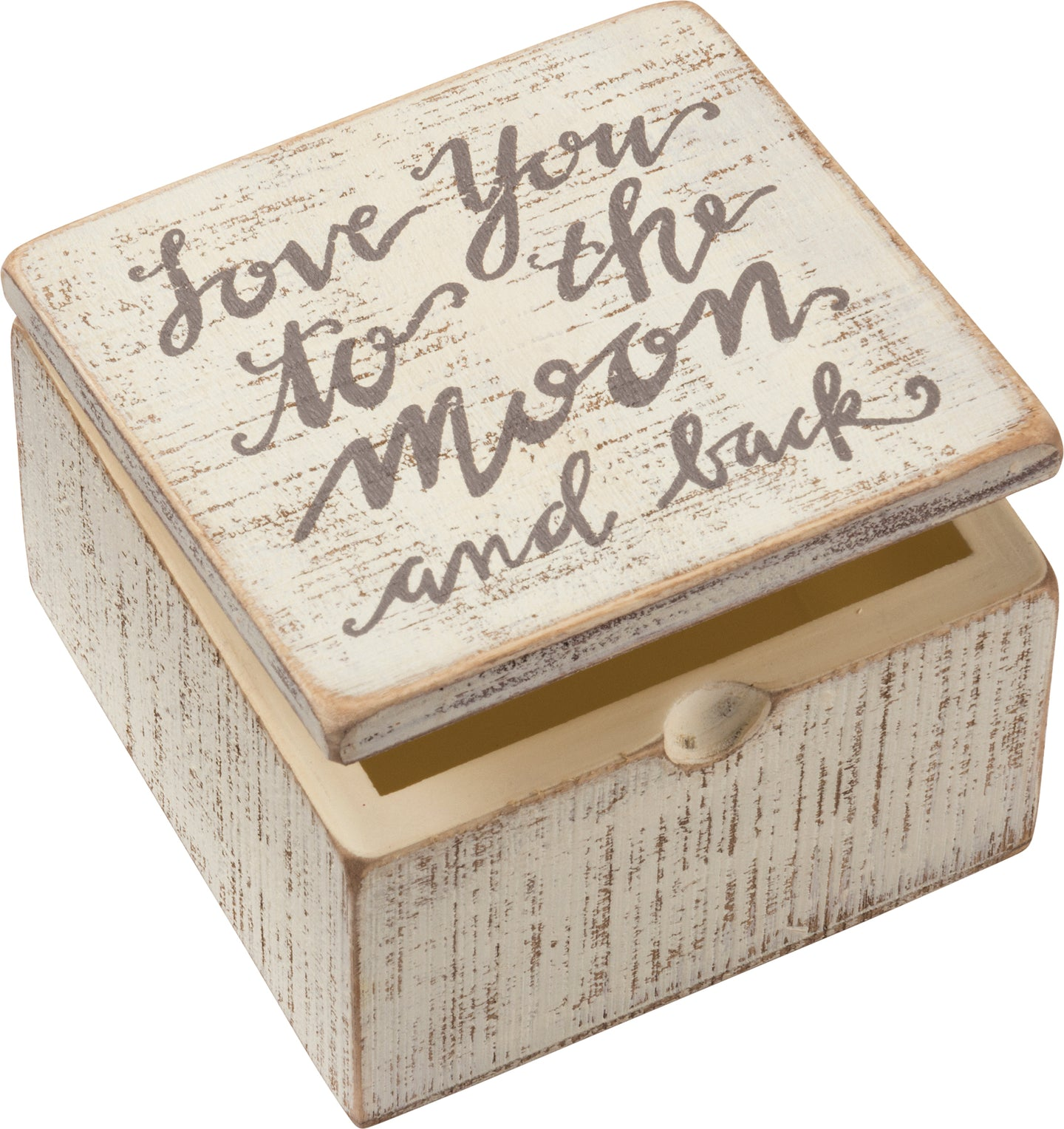 Love You To The Moon And Back White Keepsake Box