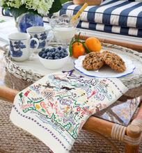 Load image into Gallery viewer, Martha's Vineyard Embroidered Color Dish Towel