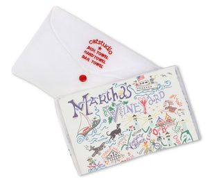 Martha's Vineyard Embroidered Color Dish Towel